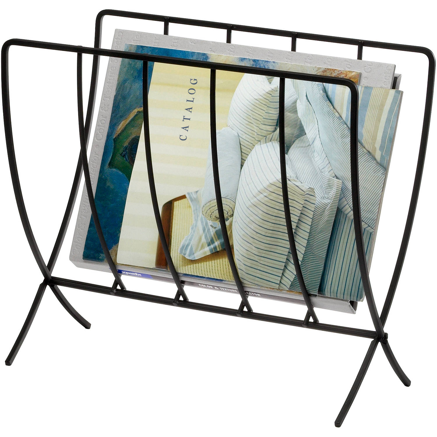 Spectrum Seville Magazine Rack, Black