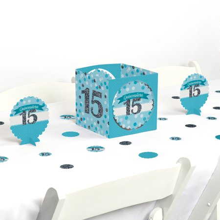 Quinceanera Teal - Sweet 15 - Birthday Party Centerpiece & Table Decoration - Quinceanera Centerpiece Ideas