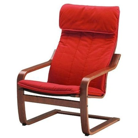 ikea poang chair armchair with cushion red cover and frame. Black Bedroom Furniture Sets. Home Design Ideas