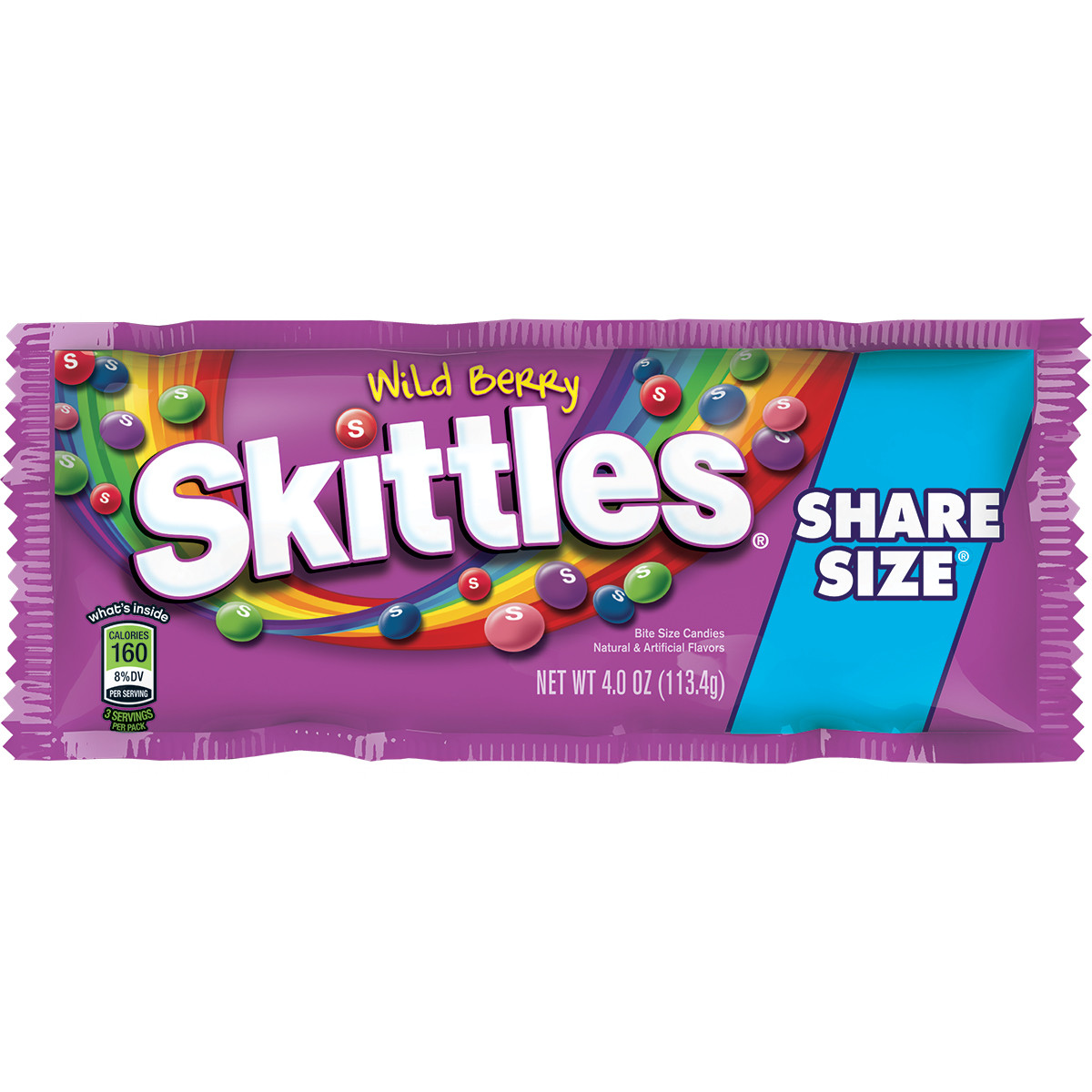 Skittles Wild Berry Candy Share Size Pack, 4 ounce