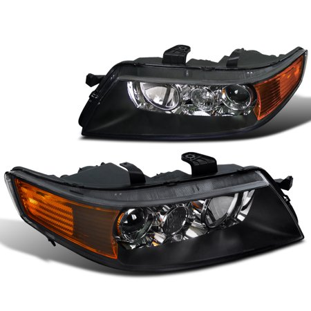 Spec-D Tuning 2004-2005 Acura Tsx Sedan 4Dr Projector Headlights Head Lamps Black 04 05 (Left + Right) 04 05