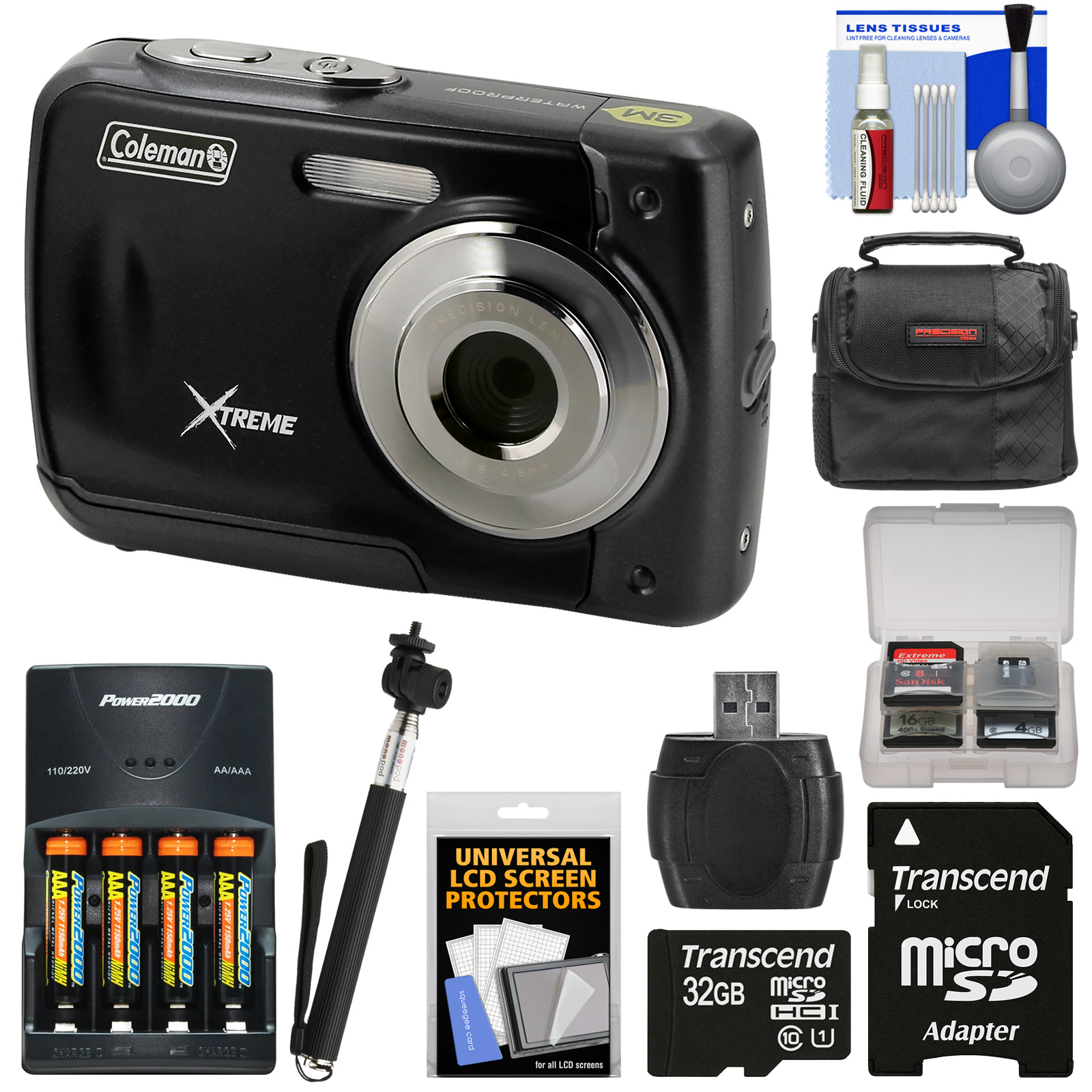 Coleman Xtreme C20WP Shock & Waterproof HD Digital Camera...
