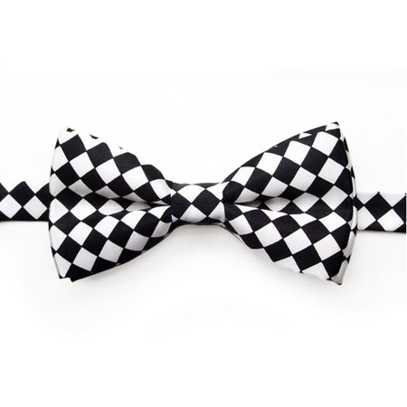 TopTie Mens Formal Pre-Tied Bow Tie, Gift Idea, Various Colors & Styles-BLACKCHECKERBOARD (Formal Cosplay Ideas)