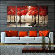 The Lighting Store 'Through The Trees' Hand Painted 3-piece Gallery-wrapped Art Set
