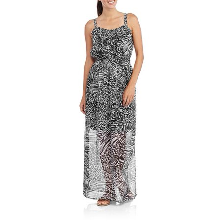 0e9c1e5c460d7 Faded Glory - Faded Glory Women's Ruffle Front Maxi Dress - Walmart.com