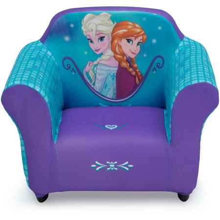 Disney Frozen Kids Upholstered Chair with Sculpted Plastic Frame by Delta Children ()
