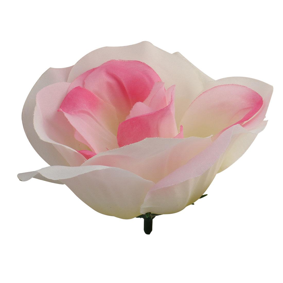 Office Bedroom Table Desk Handcraft Artificial Flower Rose Heads Decoration # 2