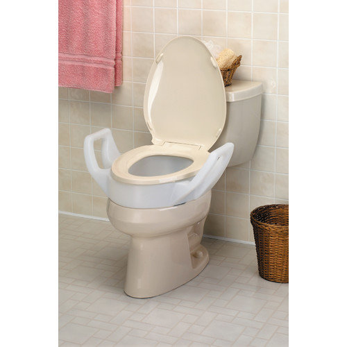 Ableware Bath Safe Elevated Toilet Seat with Arms