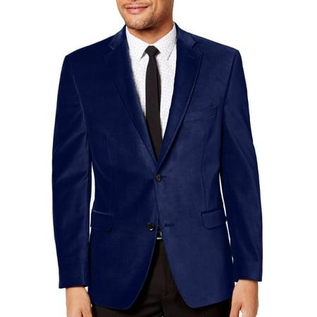 Alfani Mens Velvet Two Button Notch-Collar Blazer - Velvet Blazer