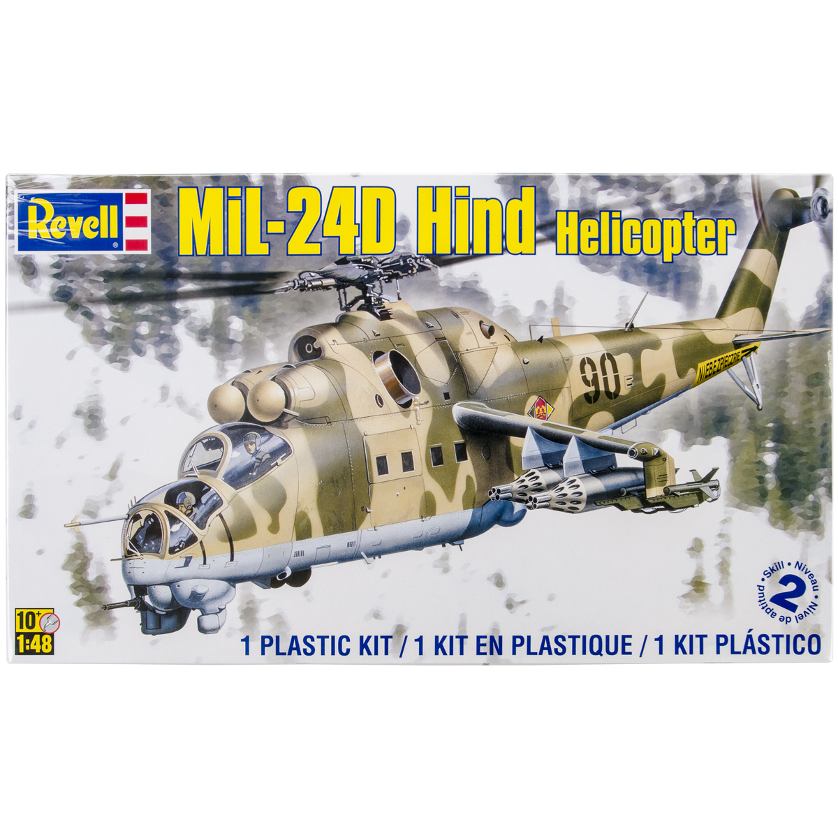 Plastic Model KitMil24 Hind Helicopter 1:48 by Revell
