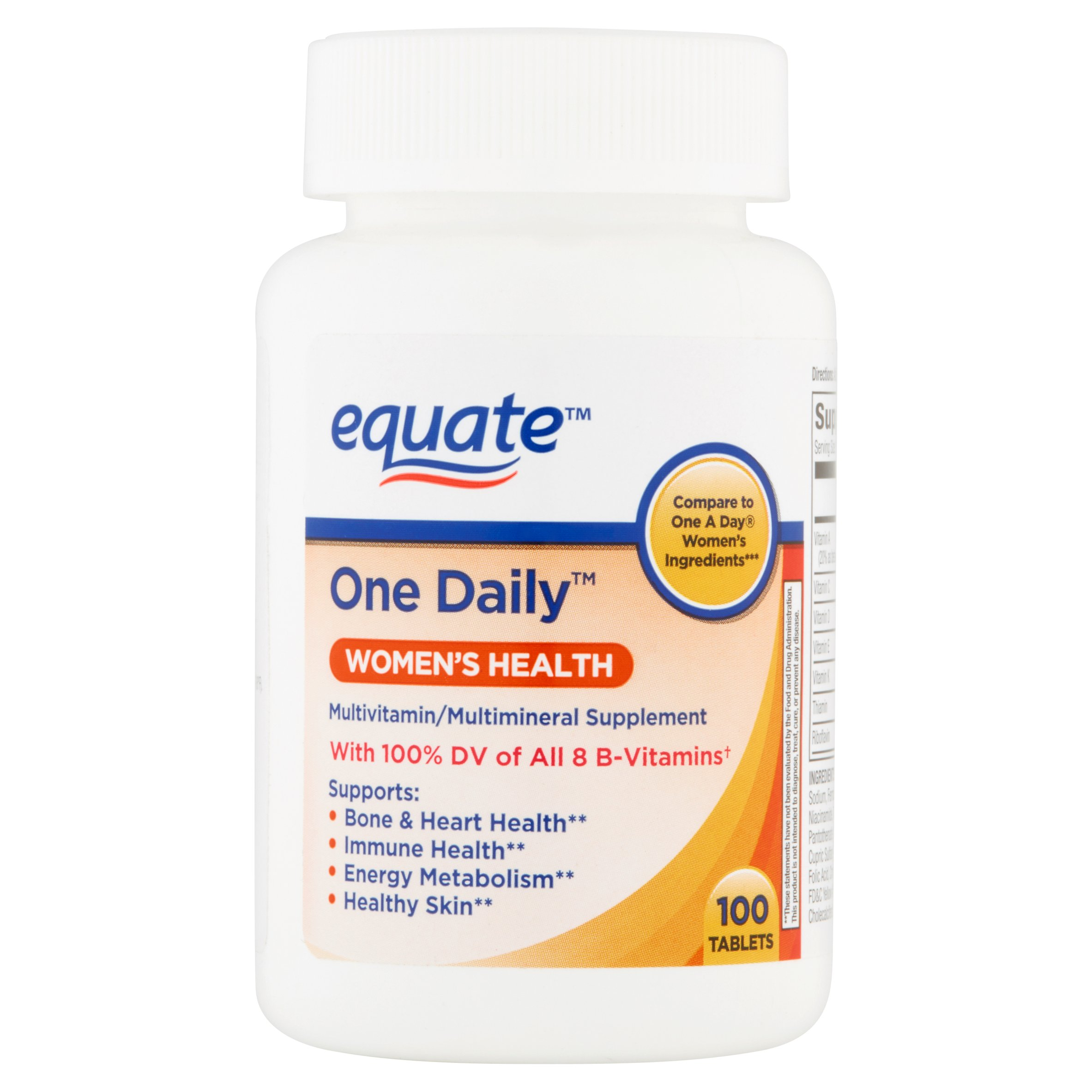 equate 1 daily womens 100 ct   walmart