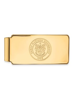 James Madison Money Clip Crest (10k Yellow Gold)