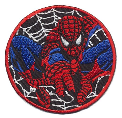 Spiderman Web Superhero Cartoon 6.8cm Logo Sew Iron on Embroidery Patch