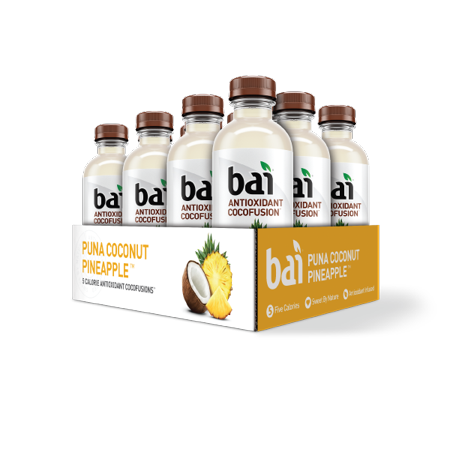 Bai Cocofusion Antioxidant Infused Beverage, Puna Coconut Pineapple, 18 Fl Oz, 12