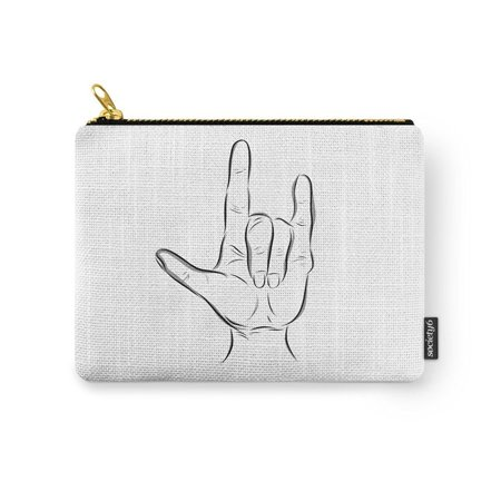 Society6  I Love You  In American Sign Language Carry All Pouch