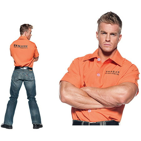 Orange Prisoner Shirt Adult Halloween - Prisoner Costume Orange