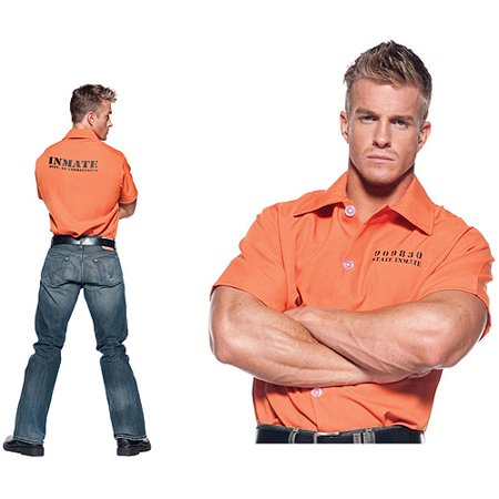 Orange Prisoner Shirt Adult Halloween Costume