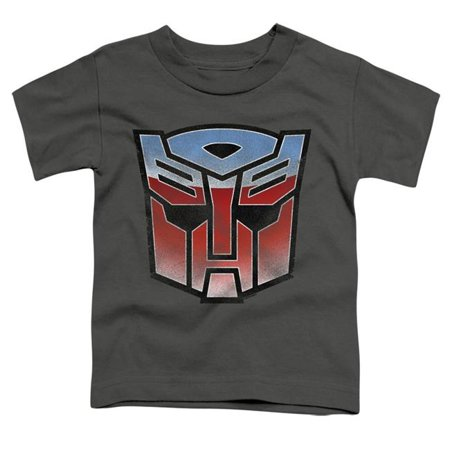 Trevco Sportswear HBRO127-TT-1 Transformers & Vintage Autobot Logo-Short Sleeve Toddler Tee, Charcoal - Small 2T - image 1 of 1