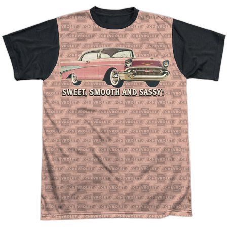 Chevrolet Autos Chevy Pink Bel Air Classic Sweet Sassy Adult Black Back T Shirt