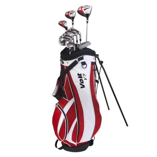 VOIT GOLF V7 15 PIECE MEN'S RH COMPLETE HYBRID STEEL GOLF CLUBS SET & STAND BAG