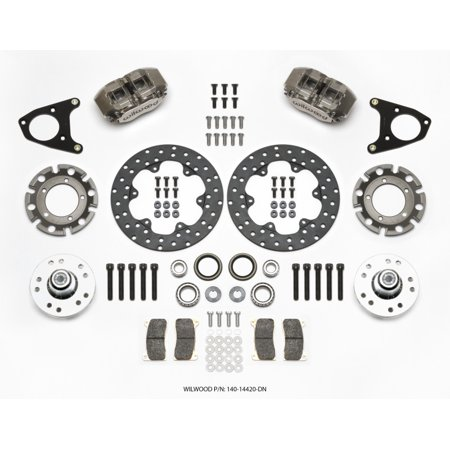 Wilwood Forged Dynalite Front Drag Kit Drilled Dynamic
