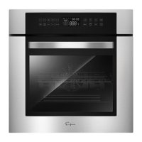 Empava 24 inch Electric Single Wall Oven 10 Cooking Functions with Convection - Touch Control in Stainless Steel