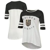 Women's White Vegas Golden Knights Oversized Tunic 1/2-Sleeve T-Shirt