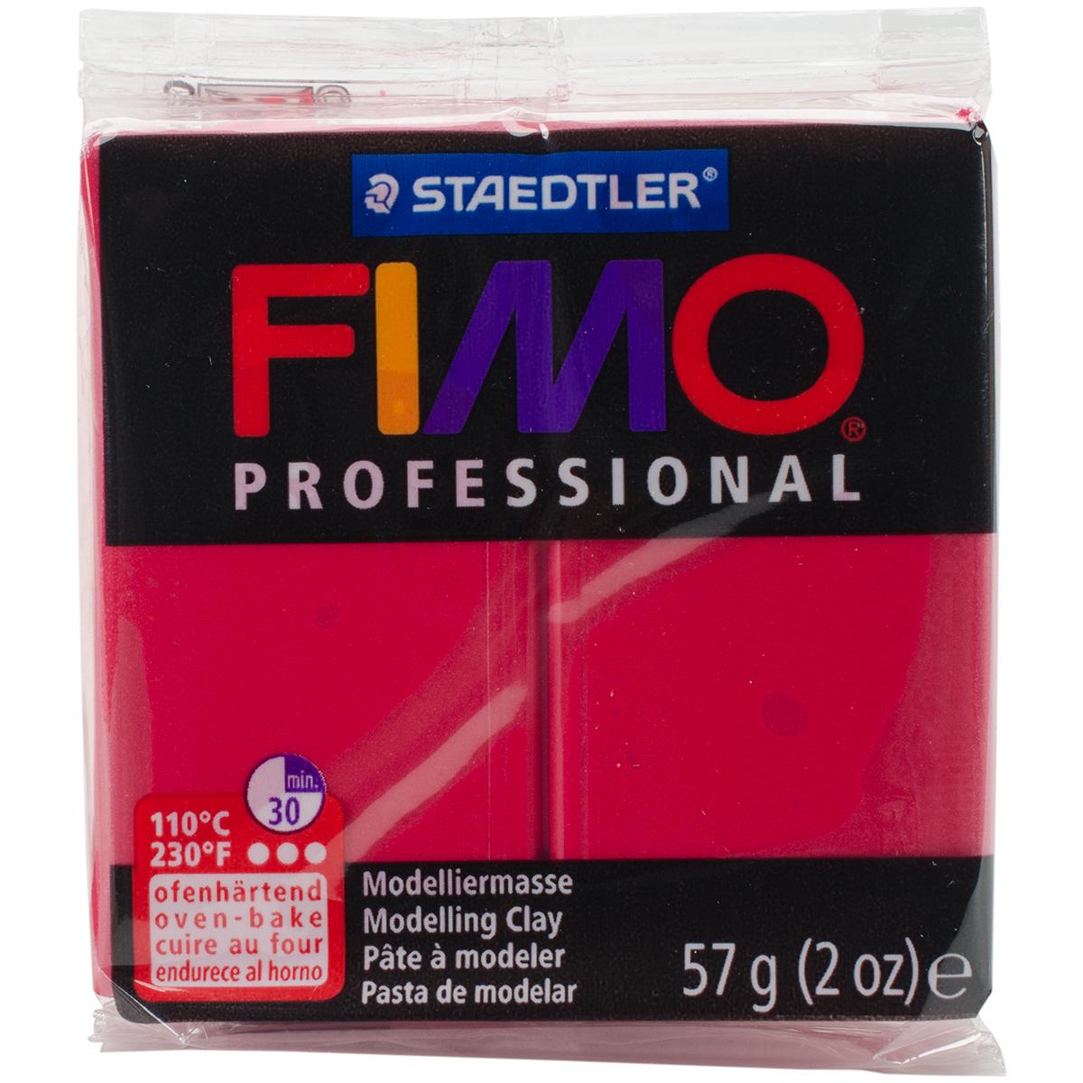 Fimo Professional Soft Polymer Clay 2oz-Carmine