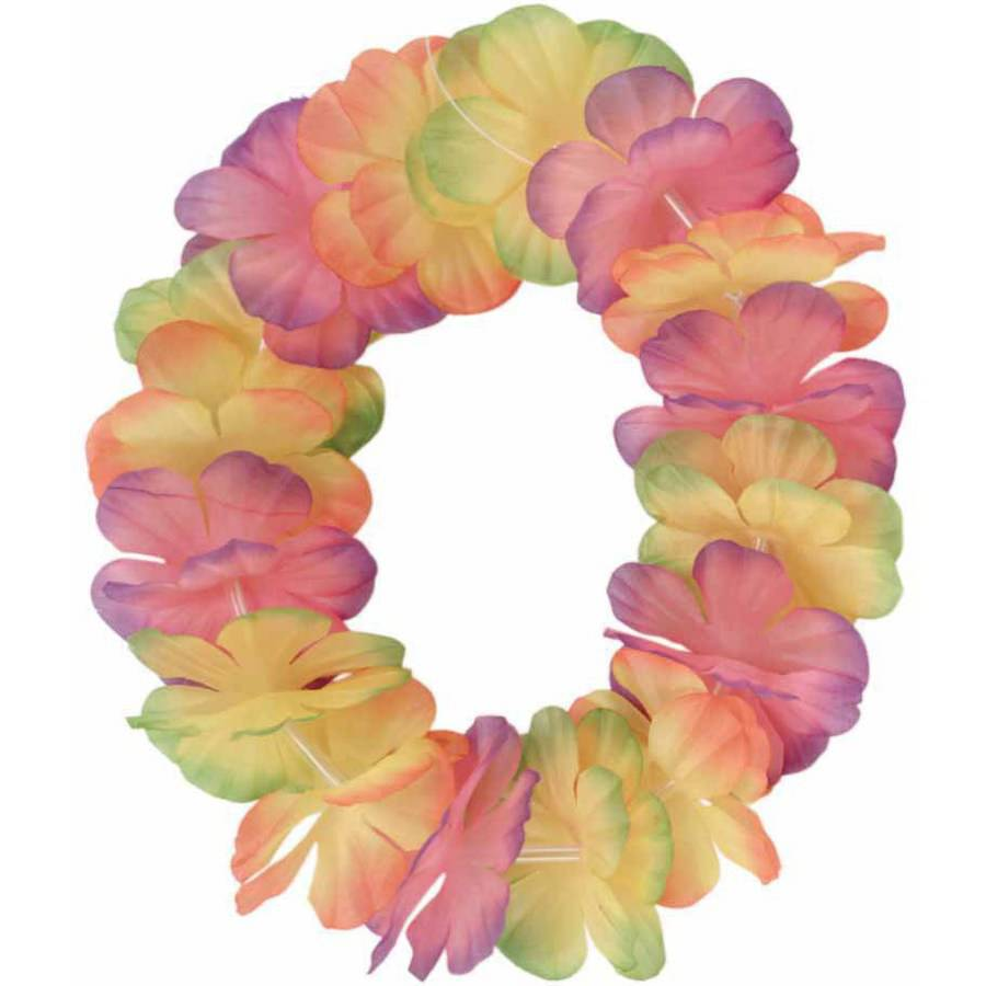 Luau Lei Headband 2-Tone Mix