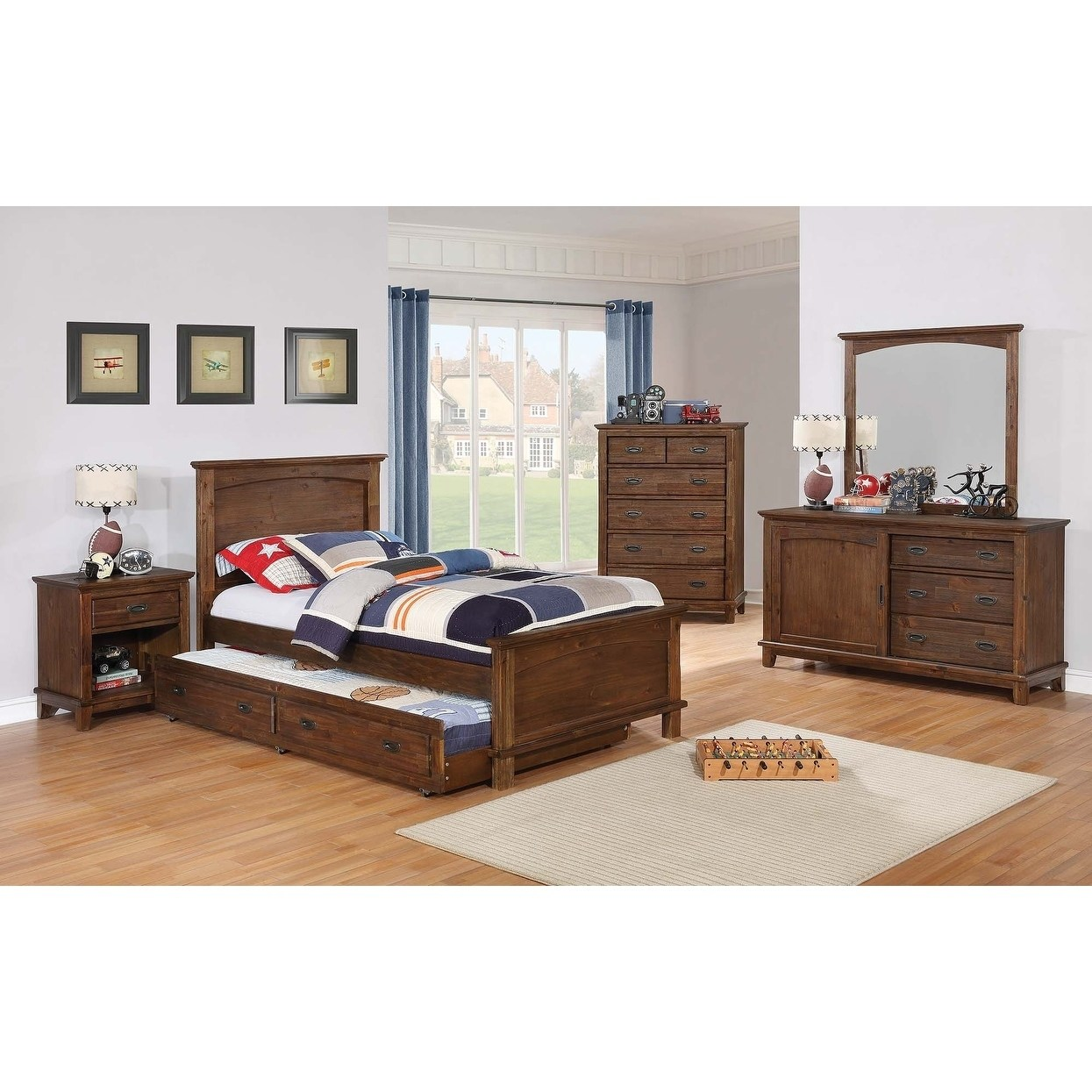 Coaster Kinsley Country Brown 1-drawer Nightstand