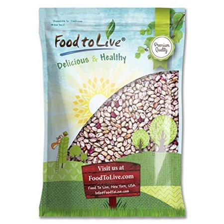 Cranberry Beans, 10 Pounds - Dried Borlotti Beans, Raw, Sproutable, Kosher, Vegan, Bulk - by Food to (Borlotto Bean)