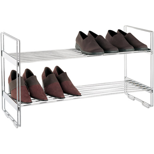 Neu Home 2-Tier Stackable Shelf, Chrome