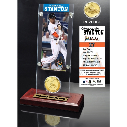 Miami Marlins Giancarlo Stanton 2015 Player Ticket & Coin - No Size