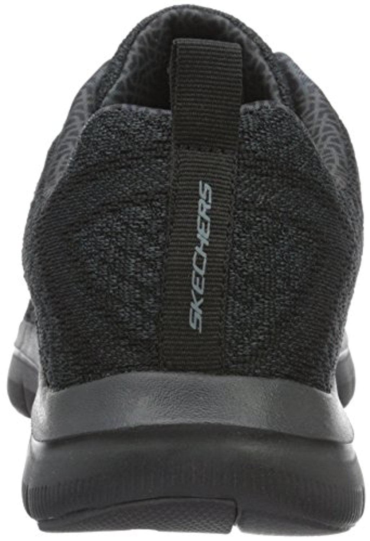 52185 W Wide Fit Black Skechers Shoes