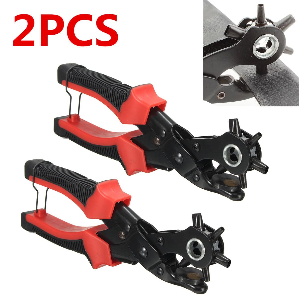 Leather Belt Hole Punch/&Eyelet Plier/&Snap Button Grommet Setter Tools Kit