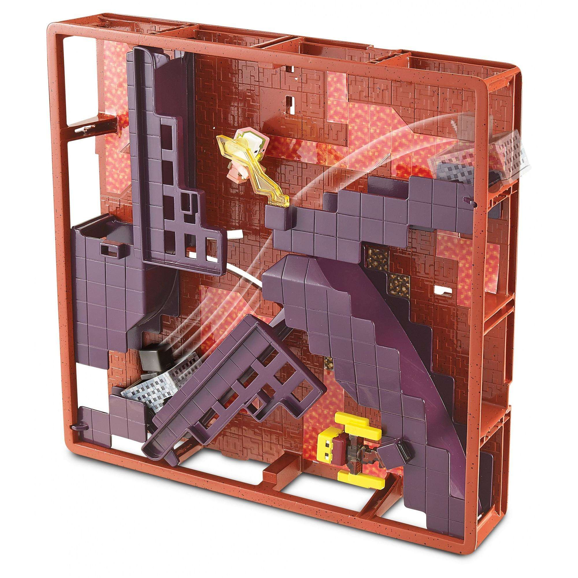 Hot Wheels Minecraft Track Blocks Nether Fortress Play Set by Mattel