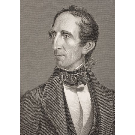 John Tyler 1790 - 1862 10Th President Of The United States Of America From The Book Gallery Of Historical Portraits Published C1880 Canvas Art - Ken Welsh  Design Pics (12 x