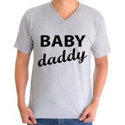 Awkward Styles Men's Baby Daddy Cool Graphic V-neck T-shirt Tops Father To Be New Dad Father's Day Gift