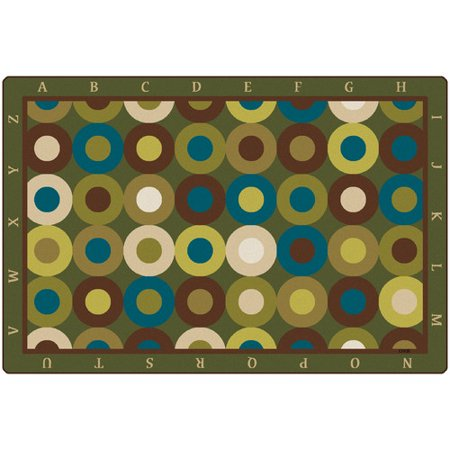 Carpets for Kids Calming Circles with Alphabet Kids Rug (Alphabet Carpet)