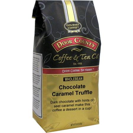 Door County Coffee Chocolate Caramel Truffle 10oz Whole Bean Specialty Coffee