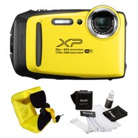 FujiFilm FinePix XP130 Camera (Yellow) with Strap and Cleaning Kit