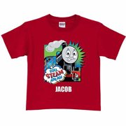 Personalized Thomas & Friends Full Steam Ahead Toddler Boy Red T-Shirt