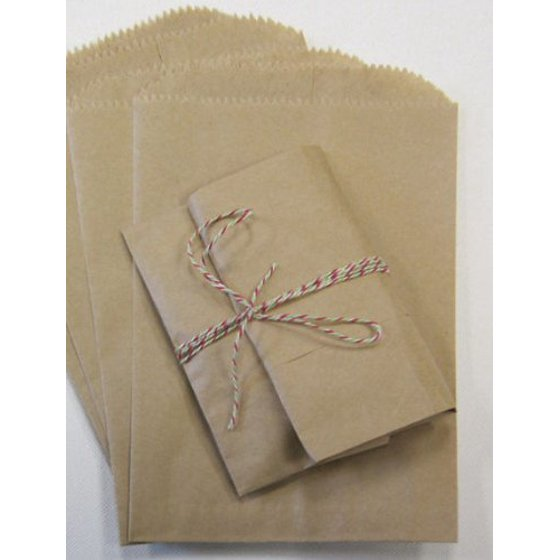 My Craft Supplies 200 Small Brown Kraft Paper Bags 3 1 2 X 5 4 Inches