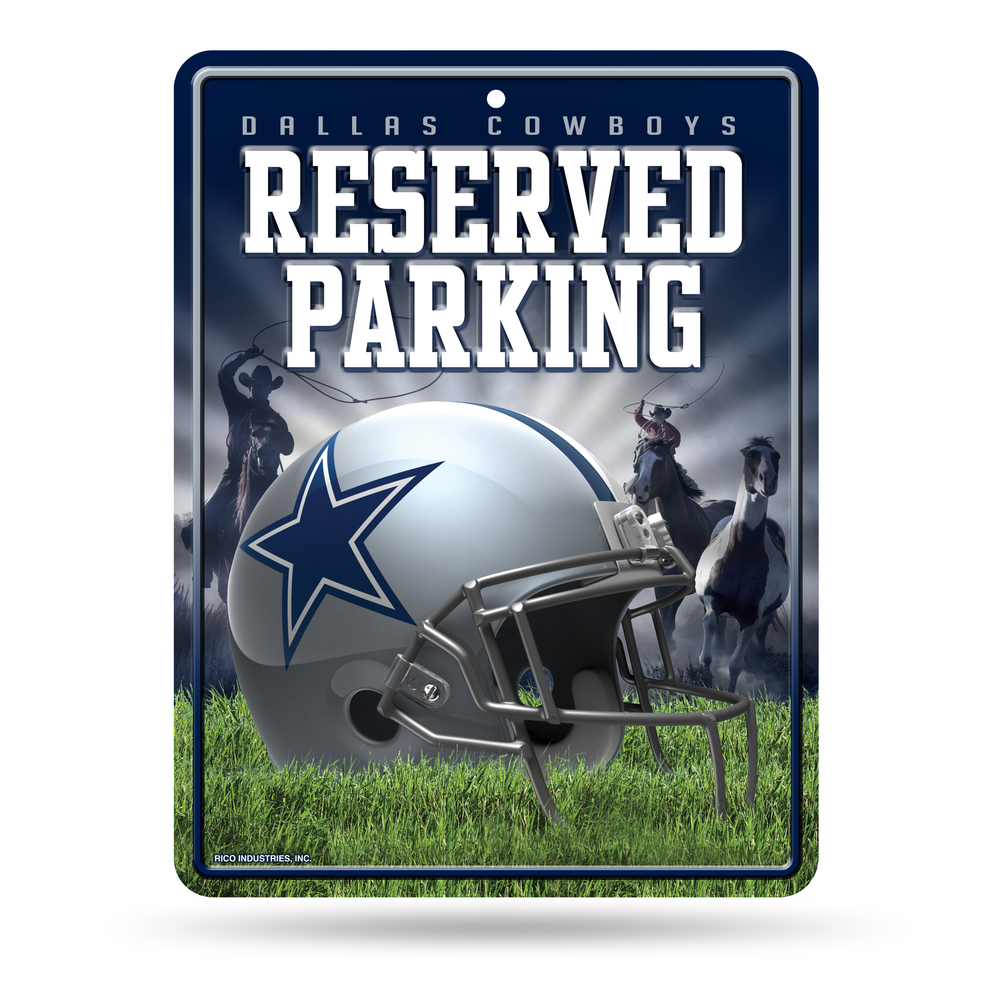 Dallas Cowboys Official NFL 8.5 inch x 11 inch  Metal Parking Sign by Rico Industries