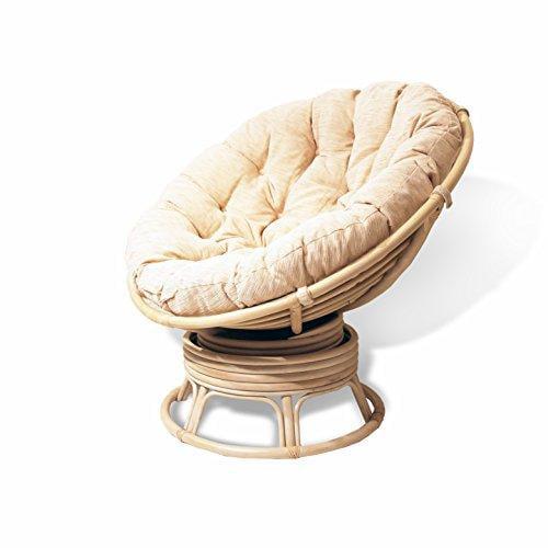 rattan wicker swivel rocking round papasan chair with cus...