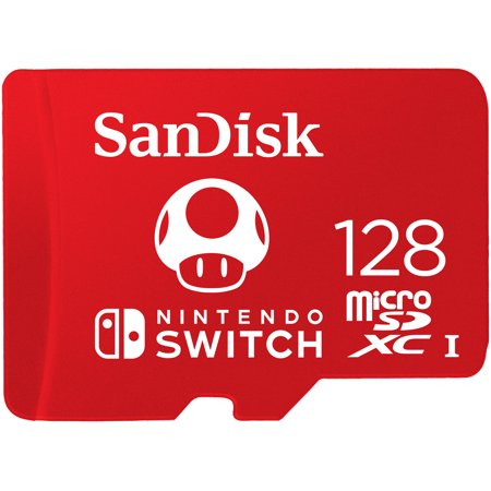 SanDisk 128GB microSDXC Memory Card for Nintendo Switch