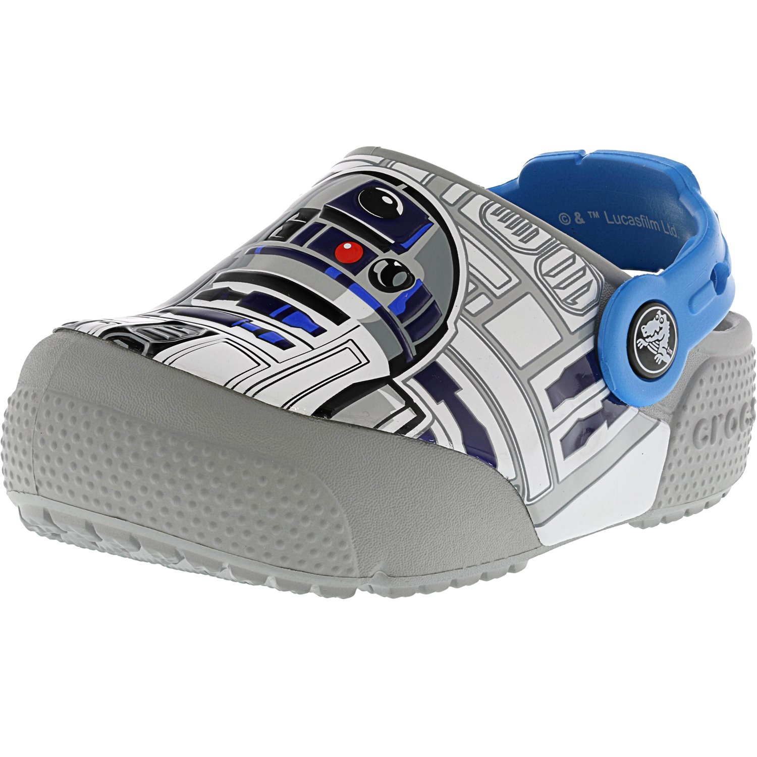 Crocs Crocsfunlab Lights R2D2 Ocean   Light Grey Rubber Clogs 5M by Crocs
