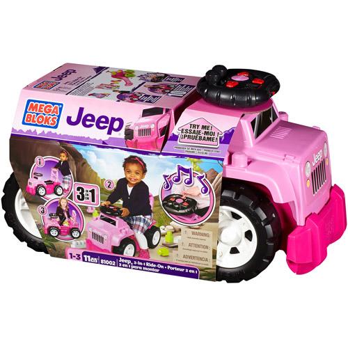 Mega Bloks Girls' Jeep 3-in-1 Ride-On