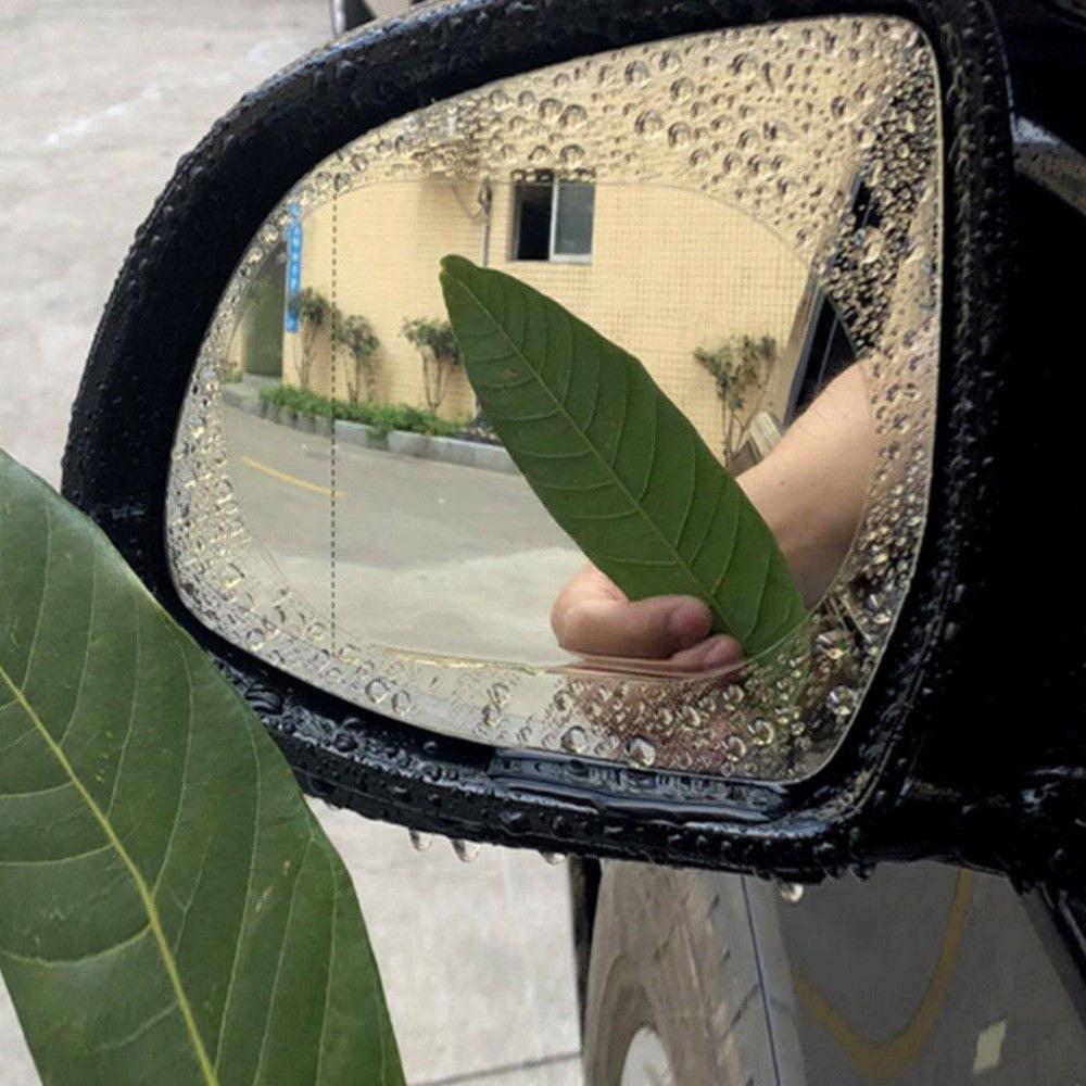 2Pcs Oval Car Auto Anti Fog Rainproof Rearview Mirror Protective Film Access bD