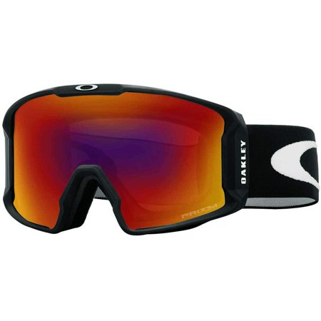 Oakley Line Miner Snow Goggle, Matte Black, Medium, Prizm Torch Iridium (Goggle Oakley Prizm)